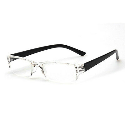 Lightweight Black Rimless Resin Magnifying Reading Glasses +1.5/+2/+2.5/+3 Gifts