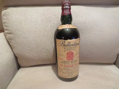 Antique Vintage 17 Year Old Blended Ballamtine - 1950s,60.