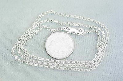925 Italian made Solid 925 sterling silver 2mm belcher link chain 50cm