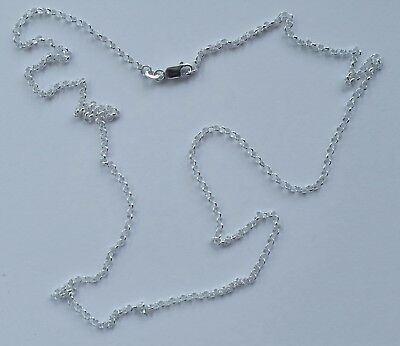 925 Italian made solid 925 sterling silver 2mm belcher chain 90 cms