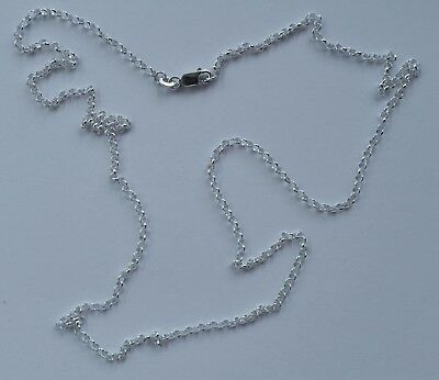 925 Italian made solid 925 sterling silver 2mm belcher chain 60cms