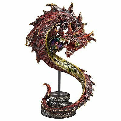 Dragon Wing Statue Sea Serpent Mythical Creature Medieval Gothic Decor Theme Art