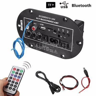 220V/12V/24V 50W Voiture Bluetooth Hi-Fi Audio Basse Amplificateur Board TF USB