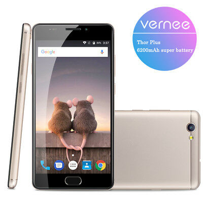 6200mA 32GB 5.5''Vernee Thor Plus 4G Android 7.0 OctaCore 13MP 2SIM Smartphone