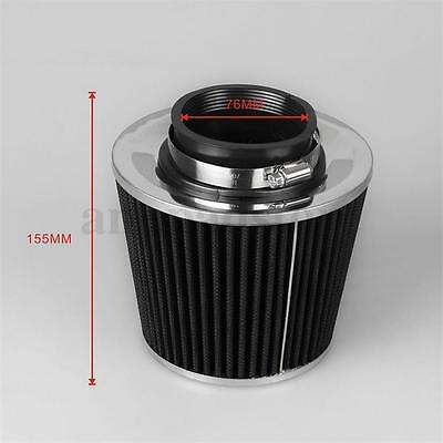 3 Inch 76Mm Grey Inlet Short Ram/cold Intake Round Cone Mesh Air Filter