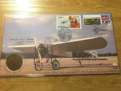 2009 100th Annv Louis Bleriot 'Plane' Signed Buckingham Coin Cover