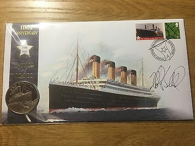 2011 100th Annv. Launch of Titanic Signed Buckingham Coin Cover Ships