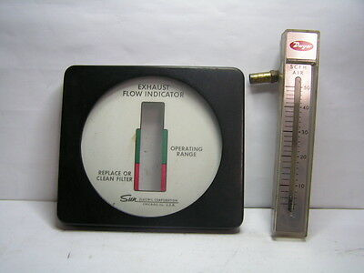 Sun engine analyzer tester parts Engine Exhaust Flow Meter Indicator Gauge