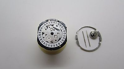 New Seiko Watch Movement 7T32 Included 2 Stems And Battery