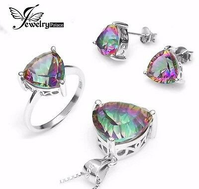 Mystic Topaz And Sterling Silver Jewelry Set