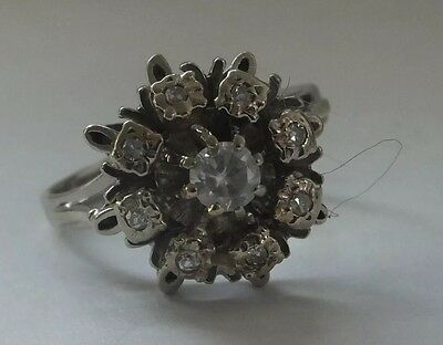 Antique 18 Carat Gold Diamond Daisy 1930s Art Deco Cluster Ring