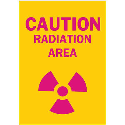 BRADY Caution Radiation Sign, 14 x 10In, ENG 74829