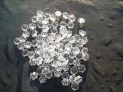 100 unusual 14mm glass snowflake chandelier drops/Christmas decoration (D84712)