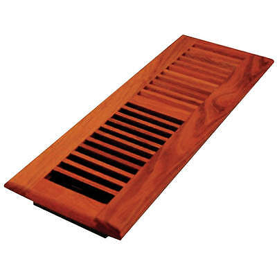 DECOR GRATES 4x14 Louvered Solid Cherry Natural WLC414-N