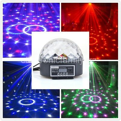 UK Stage Disco DJ Light Digital LED RGB Crystal Magic Ball Party Effect Lighting