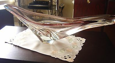 """FRENCH LARGE """"ART  DECO"""" GLASS DISPLAY BOWL Circ.1930s/40s"""