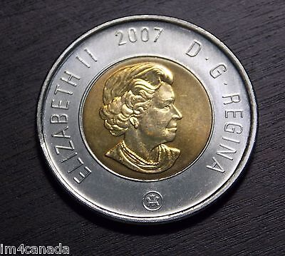 Canada 2007 2 Dollars Toonie MS Uncirculated fr Mint Roll