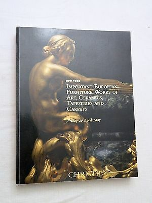 Christie's Auction Catalog Important European Furniture, Works of Art.. 4/2007