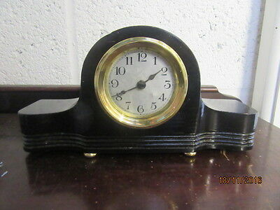 "Upcycled Retro Quartz Clock In Working Order 10"" x 5"""