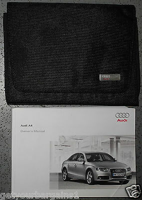 Audi A4 Saloon Handbook Owners Manual For 2008-2011 Cars Ref4226