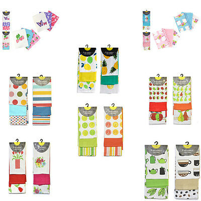 Home Edition 100% Cotton Kitchen Tea Towels, 3 Pack