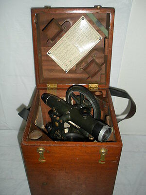 Vintage  W.& L.E. Gurley Optical Survey Compass Level Construction Grading