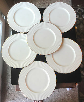 Lenox (Special)  6 Piece China Salad /dessert Plates ~Scalloped & Gold Trim