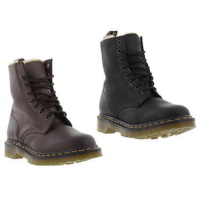 Dr Martens Serena Womens Fur Lined Black Brown Leather Ankle Boots Size 4-8