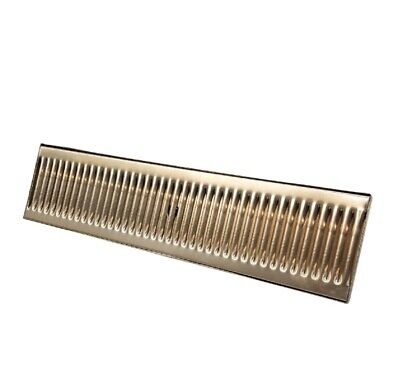 "5"" by 20"" Stainless Steel Drip Tray with Drain - Surface Mount Drip Tray"