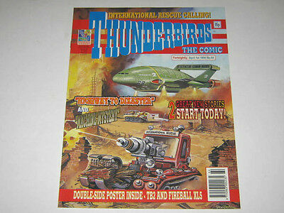 THUNDERBIRDS COMIC No 64 with DOUBLE SIDED POSTER FIREBALL XL5 & VIRGIL TRACY