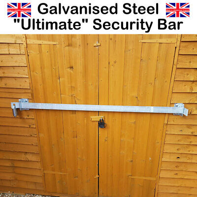 Shed Locking Sliding Galvanized Security Bar Padlock Not Included - 1000mm