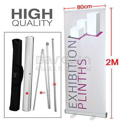0.8 x 2M Roller Banner Pop Up Roll Up Pull up Exhibition Show Shop Display Stand