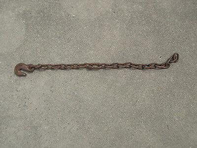 "*  Old Farm Chain with Hook - 1 1/2"" Links - 26"" total Chain Length"