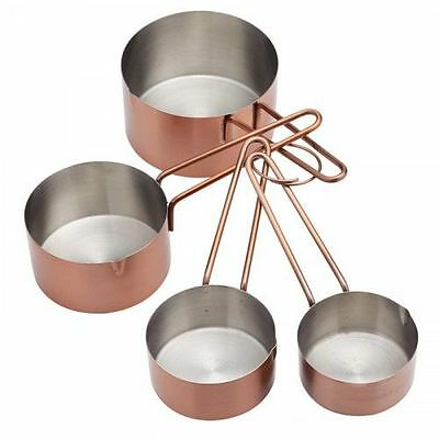 Master Class Steel Baking Cooking Copper Effect Measuring Cup Set - 4 Piece