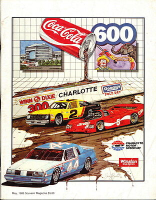 Dale Earnhardt 1986 Coca-Cola 600 Nascar Win Program Book