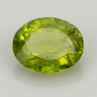 4.28 ct Large Peridot Oval cut 11.56x9.41mm I2 Natural loose green gemstone