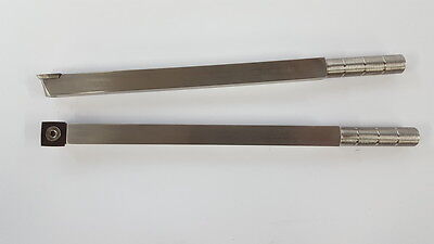 """CarbideTipped Woodturning Tool 15mm x 100mm (4"""") radius 9"""" long Stainless steel"""