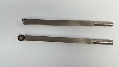 """Carbide Wood Turning Tool with 16 mm round insert  9"""" long Ci0 stainless steel"""