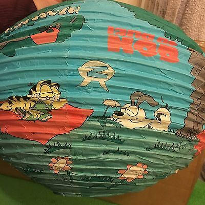 Very Rare Garfield & Odie Paper Lampshade!  Super Rare!