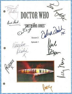 DOCTOR WHO SMITH & JONES MOVIE SCRIPT SIGNED BY 9X Rpt DAVID TENNANT