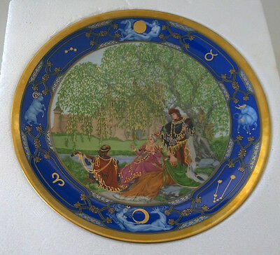 Hutschenreuther Collector Plate-Love For All Seasons-Medieval Minstrel Blue Gold
