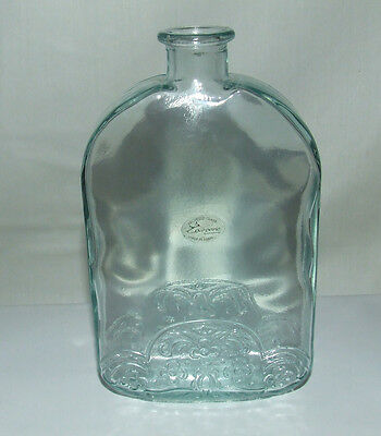 Couronne~Vidrios de Levante Recycled Clear Glass Bottle~Floral~Hand Made Spain