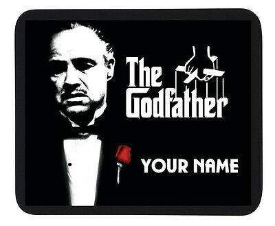 PERSONALISED CUSTOM GODFATHER MOUSE PAD / DINNER MAT - LAPTOP/TABLE - Gift Party