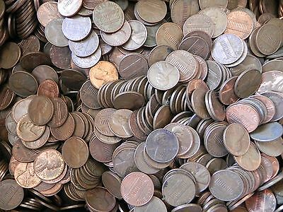 $15.00 Old 95% Copper Pennies - 10+ lbs  - Pre 1983 - Unsearched - Bulk Bullion