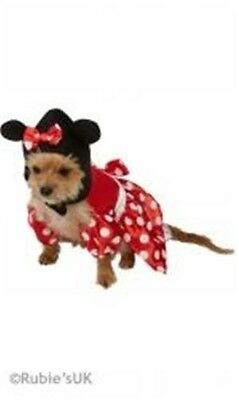Minnie Mouse Disney Conte De Fées Chien Chat Déguisement Pet Costume Fête Xs S M