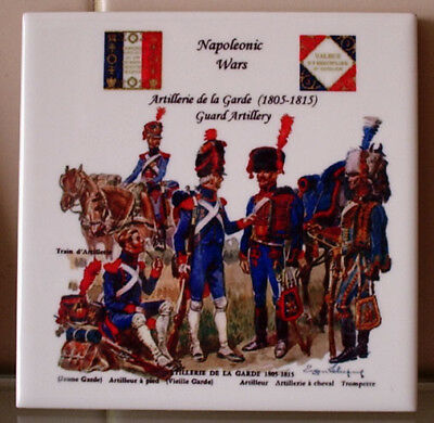 Napoleon Napoleonic wars French Artillery Guard TILE