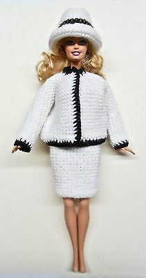 Coat, Skirt & Hat Chanel Suit Style for Barbie Doll