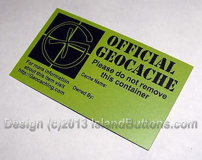 20 Geocache Site Info Cards (Double Sided)