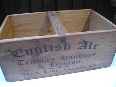Industrial Wood Box Hand Made Pine Crate *english Ale-Finest Hops-Brick Lane E1