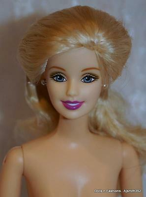 Gorgeous Barbie Doll Long Blonde Hair, Jointed - NUDE